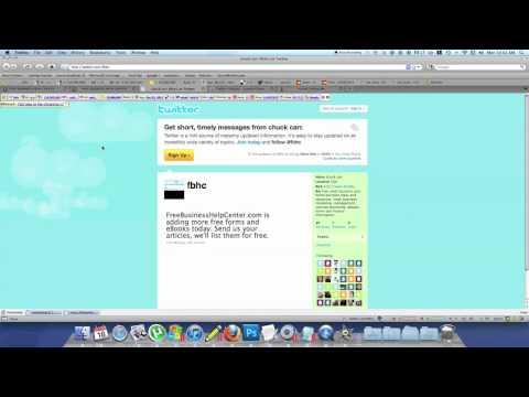 Twitter follow me extension for Joomla website