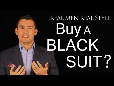 Should a Man Buy a Black Suit - Men's Style Fashion Advice - When to wear 2-Piece Black Suits