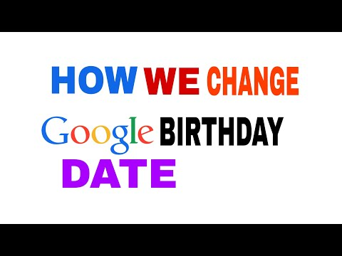 How to Change Birthday Date In Google Account