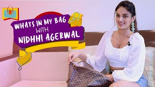 What's In My Bag Ft. Nidhhi Agerwal | POP Diaries Fashion