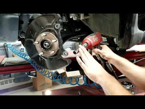 How to remove and replace wheel bearing hub on a subaru, xv crosstrek, impreza, wrx, step by step.