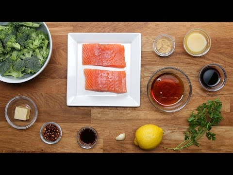 Maple-Glazed Salmon Dinner in 15 Minutes or Less