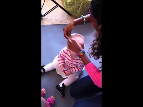 How to Use Distraction when putting in Hair Bows in Wispy Fine Bald Baby Hair - Amazing HAIR CLIPS!