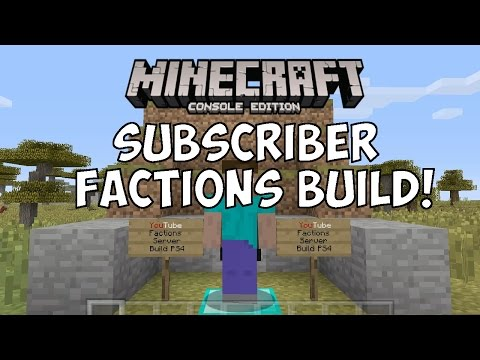 Minecraft PS4 - Subscriber Factions Build Stream