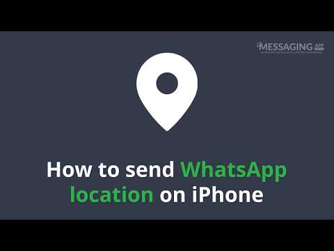 How to send WhatsApp location on iPhone