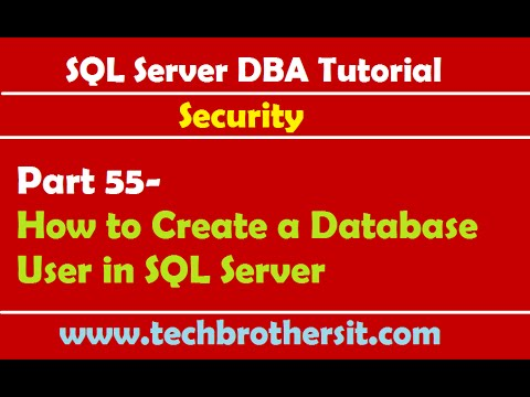 SQL Server DBA Tutorial 55- How to Create a Database User in SQL Server