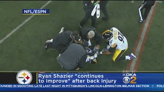 "Shazier ""Continues To Improve"" After Suffering Back Injury"