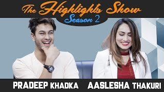 Actors PRADEEP KHADKA & AASLESHA THAKURI @ THE HIGHLIGHTS SHOW   Season 2   Ep. 16   PREM GEET 2