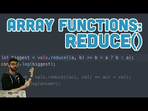 16.7: Array Functions: reduce() - Topics of JavaScript/ES6