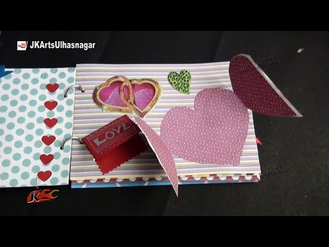 DIY Scrapbook Tutorial | Valentine's Day Gift Idea | How to make a Scrapbook | JK Arts 861