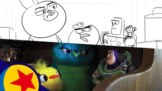 Toy Story 4 Key Scene with Ducky and Bunny | Pixar Side by Side