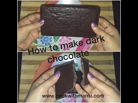 How to make dark chocolate compound at home - 4 ingredients homemade chocolate recipe in hindi