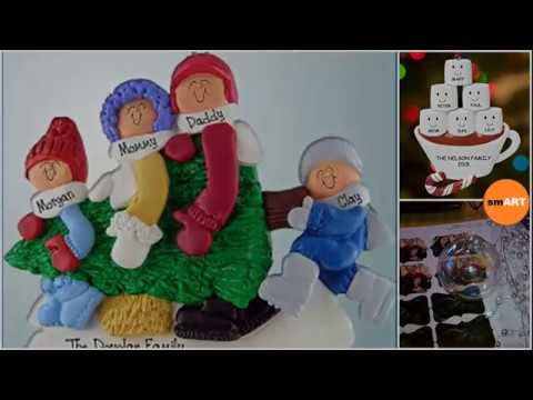 Family Christmas Ornaments - Christmas Tree With Ornaments