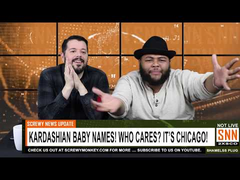 This just in to the SNN World Headquarters! Kardashian baby name is Chicago! - SNN News Brief