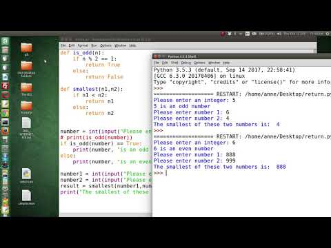 Python 3 - Two User Defined Functions with arguments and return values