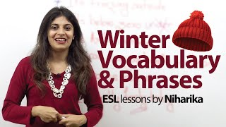 Winter Vocabulary - Learn English for free ( English Vocabulary Lesson)