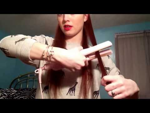 How I curl my ends with a flat iron!