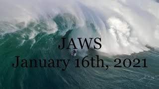 Best Tow Surf Session In Jaws History? January 16th, 2021 - Layer, Lenny, Florence, Dupont, and More