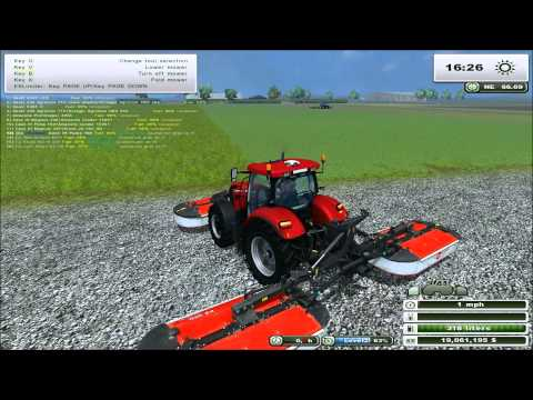 Let's Play Farming Simulator 2013 Courseplay Tutorial #10 - Grass, hay and feeding cows