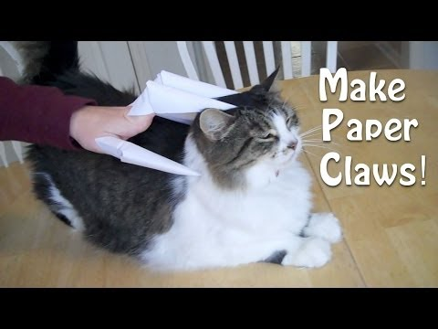 Paper Claws / Finger knives (Cats love these!)