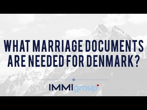 What marriage documents are needed for Denmark?