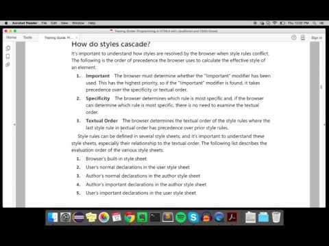 How Styles Cascade (CSS3)