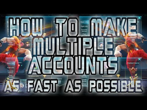 Mobile Legends: How To Make Multiple Accounts | As Fast As Possible | No Root