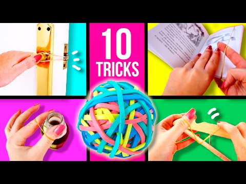 TOP 10 RUBBER BAND Life hacks 🤓 Super EASY tricks with RUBBER BANDS