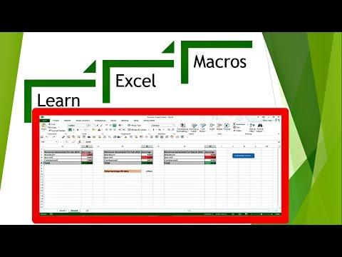 Excel Macros - Writing code in excel, VB Script (VBA)