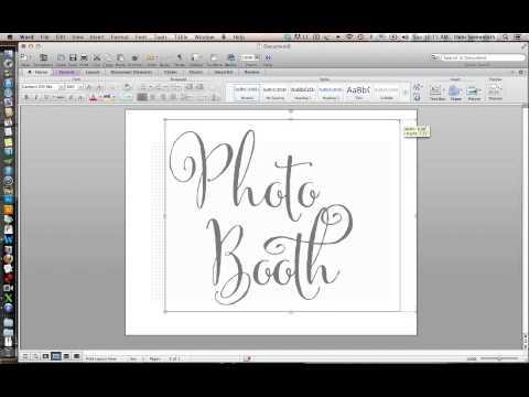 How to make DIY Wedding Signs Using Cantoni DIY Wedding font