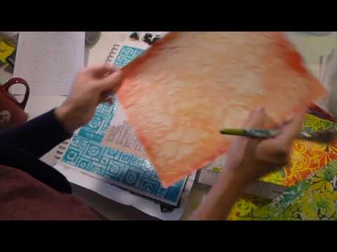 How to Create an Art Journal Page with Stencils - Creative Team Thursday with Denise Alloca