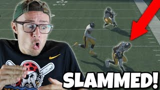 TINY PLAYERS vs GIANT PLAYERS!! GIANT GETS SLAMMED!! Madden 18 Gauntlet
