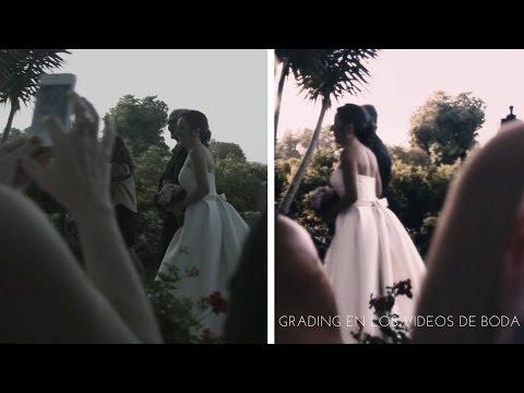Grading en los videos de boda en Valencia