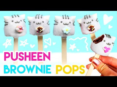 How to Make Pusheen Brownie Pops! 💕