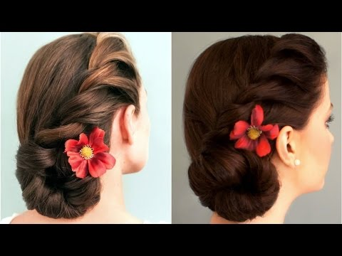 Quick and easy Messy BUN With side twist