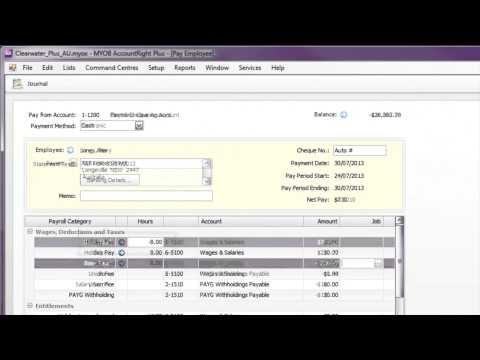 Adjusting employee's pay | MYOB Client Support