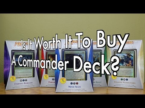 MTG - Is It Worth It To Buy A Commander Deck? Magic: The Gathering