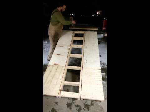 Tri-fold wood ramp