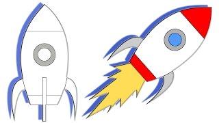#x202b;تعليم طريقة رسم صاروخ فضائي للاطفال خطوة بخطوة#x202c;lrm;