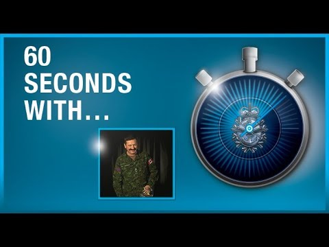 #60SecondsWith… challenge is BGen Rob Roy MacKenzie, Chief of Staff of the Army Reserve.
