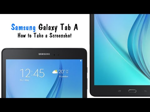 Samsung Galaxy Tab A - How to Take Screenshot