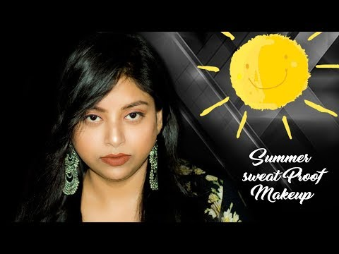 How To Do Easy Sweat Proof Summer Makeup Tutorial in Hindi | For Office/College | Indian Makeup