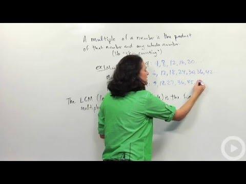 Least common multiple - Prime numbers - Pre-algebra