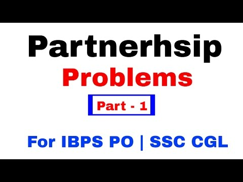 Partnership Problems Tricks For IBPS PO | SSC CGL [In Hindi] Part 1