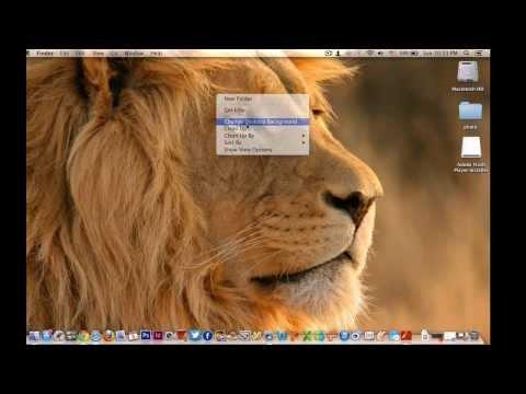 How to change Desktop Background MacBook