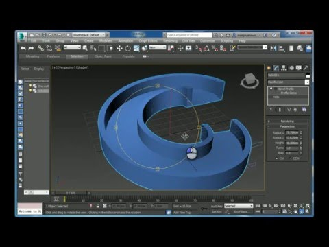 Modeling a spiral ramp in Autodesk 3ds max