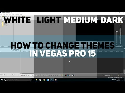 How to change the Theme/Background color in Vegas Pro 15