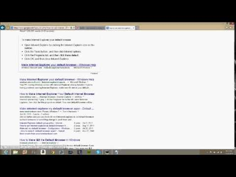 how to set internet explorer as default browser