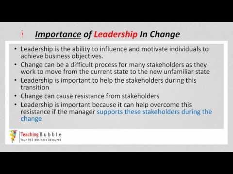 VCE Business Management - Leadership in Change