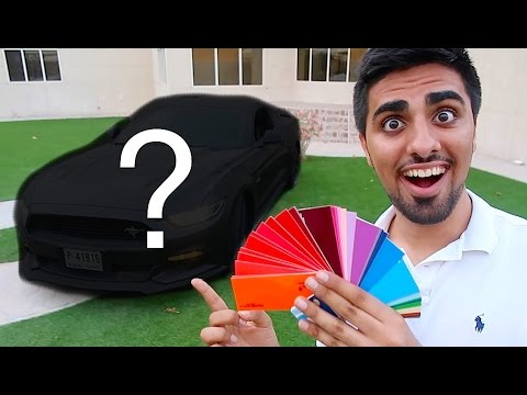 WRAPPING MY MUSTANG !!!
